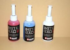 3 Metal Head Paint Marker 2 Oz Blue White Red Metal Marking Auto Salvage Crafts