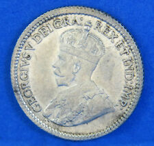 1917 Half Dime King George V Canadian Five Cent Silver Coin Canada