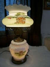 Vintage Milk Glass  GWTW Lamp Electric HP by Marilyn Wagner