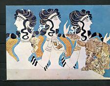 Die Damen in blau, Fresko von Knossos  - Herakleion Museum  (AK-1)