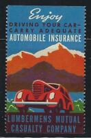 VEGAS - c1930s Lumbermens Insurance Promotional Poster Stamp - Read Desc (CR40)