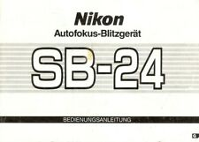 Instruction User's Manual Nikon SB-24 Autofokus-Blitzgerät German