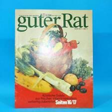 Guter Rat 2-1984 Verlag für die Frau DDR Elasan Klöße Gartenmöbel Sonnenuhr E