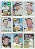 1969 TOPPS BASEBALL LOT OF <69> OVERALL EXCELLENT NOT PSA VERY VERY COLLECTIBLE