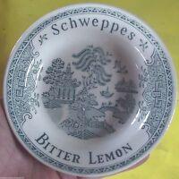 Ancien vide poche Publicitaire publicité céramique SCHWEPPES BITTER LEMON