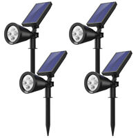 4pcs Power Solar 4 LED Landscape Spotlights Waterproof Outdoor Garden Lawn Lamp