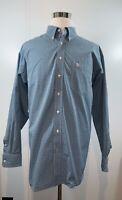 ARIAT Pro Series Men's Button Down Western Cowboy Shirt Rodeo Blue Size XXL