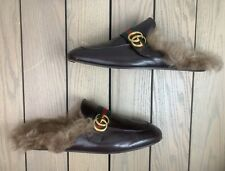 Gucci Mens Princetown Brown Leather GG Fur Slip-Ons Loafers 12G=13US  $1,150  #7