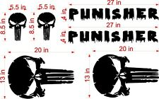 DISTRESSED PUNISHER  DECAL for  JEEP Wrangler Doors and Hood Matte Black