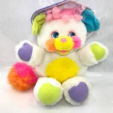 "Vintage 1986 Mattel Popples White Baby BIBSY Stuffed Toy 12"" EUC!"