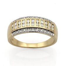 9ct Yellow Gold & Rhodium plated Plated Diamond Ring
