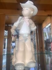 lladro Retired Cowboy Sheriff Puppet 10'5 perfect condition