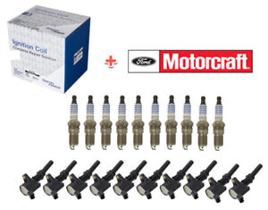 10 Spark Plugs & Coils for FORD F250 Super Duty 1999-04 6.8L V10 SP479 DG508