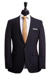 Men's Suit British Tailor 2 Piece Black Tailored Fit