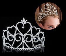MARIAGE NOCES concours de Beauté Coeur Haut TIARE CRISTAL bal soirée T1699