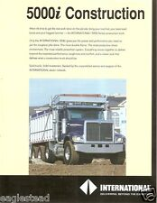 Truck Brochure - International - Navistar - 5000i - Construction Dump (TB94)