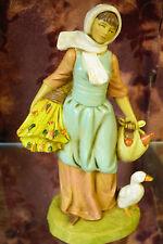 Fontanini- #52567- Hannah- 5 inch Scale Nativity Villager w/duck -New in Box