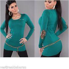 Miniabito Long Pullover Vestitino Donna Maglia ISF A715 Tg Unica veste S/M