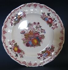 BELLE ASSIETTE en PORCELAINE le panier de fruits MASONS
