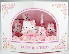 SANRIO HELLO KITTY BIRTHDAY CARD WHITE PINK