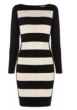 BNWT 🌹COAST 🌹 Size 10 Petite TABBIE KNIT DRESS Beige /Nude Black Colour Clock
