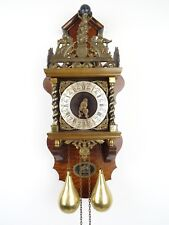 Zaanse Dutch Wall Clock Vintage Antique (Warmink Junghans Hermle Kienzle Era)