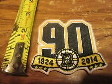BOSTON BRUINS 90 YEARS 1924 TO 2014  3  INCH IRON ON PATCH
