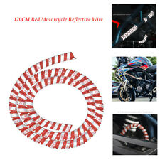 120CM Motorblke Reflective Wire Protection Sleeve Harness Tape Tube Trim Durable