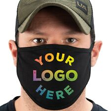10 Cotton Face Masks for Businesses Add Custom logo OR Company Name Made in USA