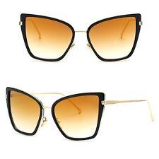 Large Retro VINTAGE Square Cat Eye Aviator Fashion Oversized Women Sunglasses