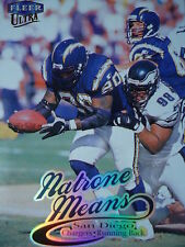 NFL 74 Natrone Means San Diego Chargers Fleer Ultra 1999