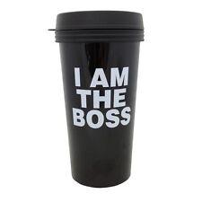 I Am The Boss 16 oz Reusable Travel Mug  Funny Joke Gag Gift