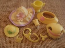 Littlest Pet Shop Yellow Accessories Hat Crown Medal Ears Cheese Jam W23