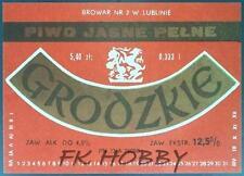 Poland Brewery Lublin Grodzkie Beer Label Bieretikett Etiqueta Cerveza lu50.2