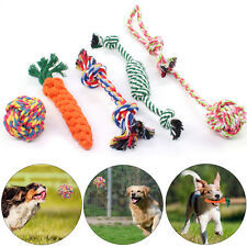 5X Dog Rope Toys Tough Strong Chew Knot Knotted Pet Puppy Healthy Teeth Bear
