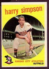 1959 TOPPS HARRY SIMPSON  CARD NO:323  NEAR MINT