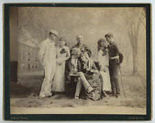 1880's-1890s YALE UNIVERSITY ACTORS IN PLAY, IMPERIAL CABINET PHOTO PACH BROS NY