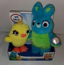 Disney Pixar Toy Story 4 Ducky-Bunny Friendship Plush • Speaks Phrases & Sounds