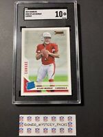 2019 Panini Donruss Kyler Murray Rookie Canvas SGC 10 #302 Rated Rookie LOW POP