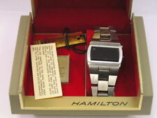 Vintage Hamilton LED Watch Stainless Steel w/ Box