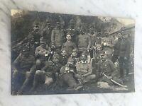 MILITARI GRUPPO PRIMA GUERRA 1916 CARTOLINA FOTOGRAFICA OLD PHOTO POSTCARD