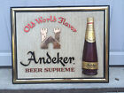 1964 Andeker Beer Sign 3D - Old World Flavor - Pabst Brewing Company