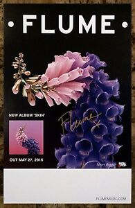 FLUME Skin Ltd Ed Hand Signed Autographed RARE Poster +FREE EDM Dance Pop Poster