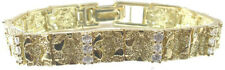 Bracelet Sterling Silver Vermeil Nugget with Cubic Zirconia Wedding