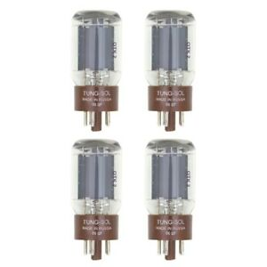 New Plate Current Matched Quad (4) Tung-Sol Reissue 5881 / 6L6WC Vacuum Tubes