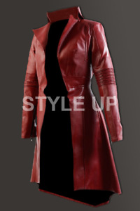 Women's Avengers Endgame Elizabeth Olsen Scarlet Witch Casual Wear Leather Coat