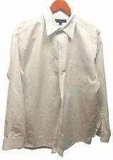 Hathaway Men's Checked Button Down Dress Shirt Size XL 17 1/2 35-36 100% Cotton