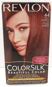NEW Revlon Colorsilk Beautiful Hair Color  #44 Medium Reddish Brown  1 Box