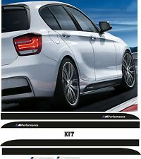 KIT 4 ADESIVI MINIGONNA BMW STRISCIE M PERFORMANCE STICKERS COD61