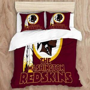 Washington Redskins Duvet Cover Pillowcases All US Sizes Bedding Comforter Cover